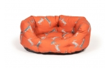 "Large+ Orange Hare Print Deluxe Slumber Dog Bed - Danish Design Woodland Hare 35"" 89cm"